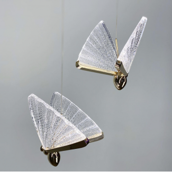 Одинарный подвесной светильник бабочка