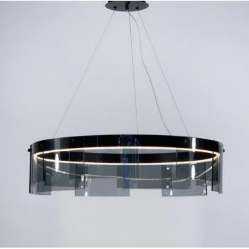 Стильная черная подвесная LED люстра