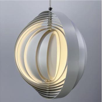 Белый подвесной светильник с вращающимся корпусом