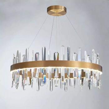 Подвесная хрустальная LED люстра