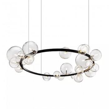 Подвесной светильник с прозрачными круглыми плафонами