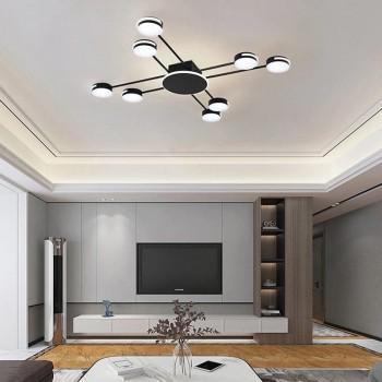 Потолочная черная LED люстра
